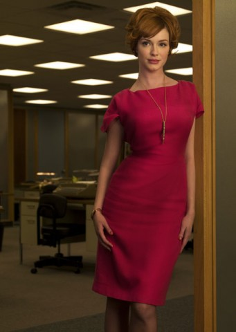 Here's a shot of Joan looking all hot over at Sterling Cooper.