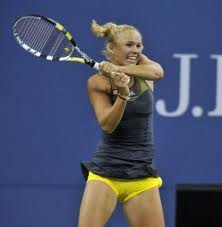 As #1, Wozniacki is done (see camel toe shot)