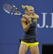 As #1, Wozniacki is done (see camel toe shot)