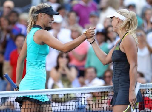Maria+Sharapova+Caroline+Wozniacki+Open+Day+jdLd_Tp7M0Xl